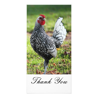 Thank You, Rooster Photo Card