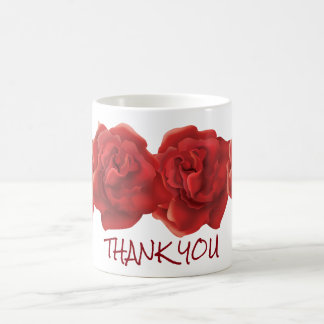 Thank you roses custom text mugs