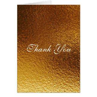 Thank You Royal White Golden Mettalic Shiny Card