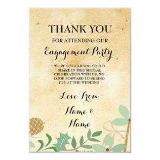 Thank You Rustic Paper Winter Wedding Card 9 Cm X 13 Cm Invitation Card