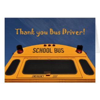 Thank you School Bus Driver, Yellow School Bus Card
