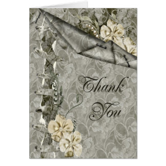 Thank You Scrap Style Greeting Card