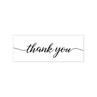 Thank you script, modern and elegant rubber stamp