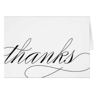 THANK YOU - SCRIPT NOTE CARD