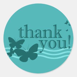 thank you seal : butterflies :