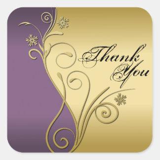 Thank You Seal - Classy Purple & Gold Wedding
