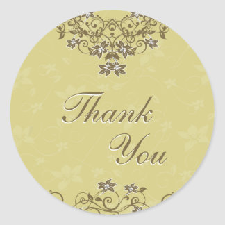 Thank You Seal - Gold Floral Chandelier