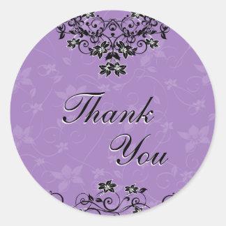 Thank You Seal - Lavender Purple Chandelier Floral