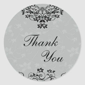 Thank You Seal - Slate Grey Chandelier Floral