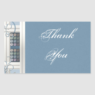Thank You Sewing Addict Rectangular Sticker