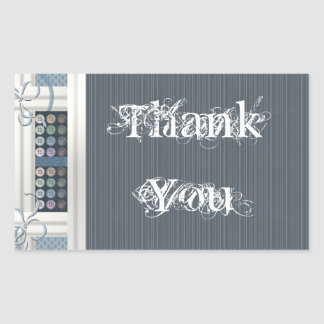 Thank You Sewing Addict Rectangular Sticker