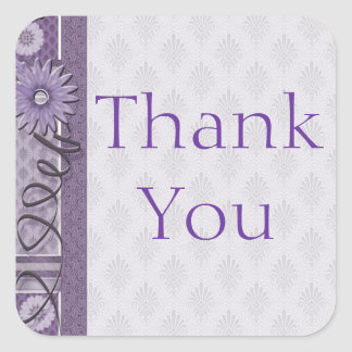 Thank You Sewing Addict Square Sticker