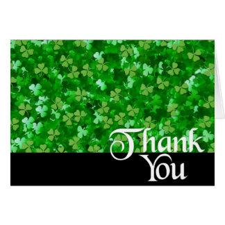 Thank You Shamrock Card