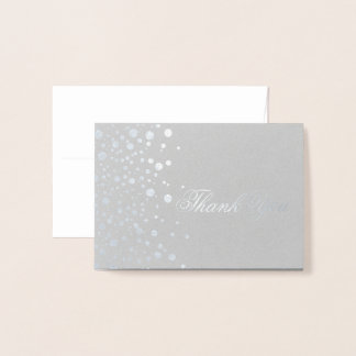 Thank You Silver Foil Dots Foil Card