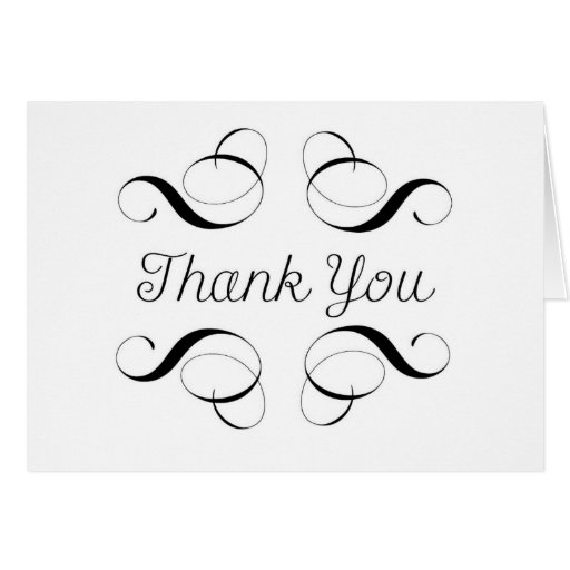Thank You - Simple Style Black and White Card