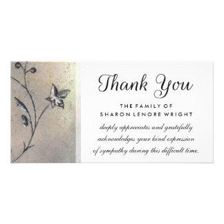 Thank You Simplicity Sympathy Card Customized Photo Card