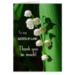 Thank You, Sister-in-Law, Lily of the Valley Greeting Card