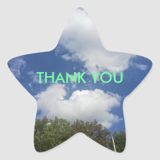 Thank You Sky Cloud Scene Star Stickers