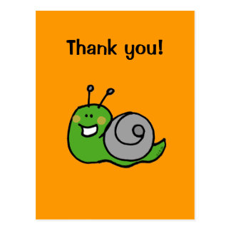 Thank you! (snail) postcard