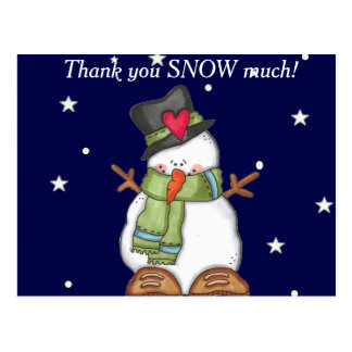 Thank You Snow Much (personalize) Postcard