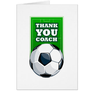 thank you soccer coach card
