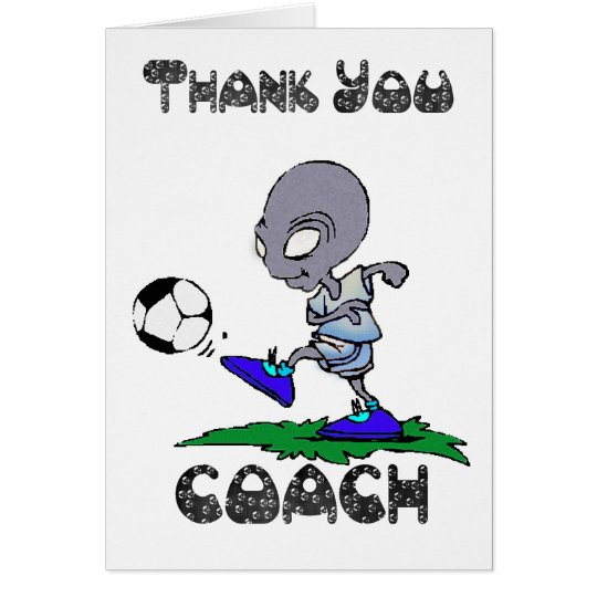 Thank you Soccer Coach, Football Coach Card