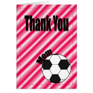 Thank You Soccer Team Mom Card