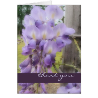 Thank You - Soft Focus Wisteria Card
