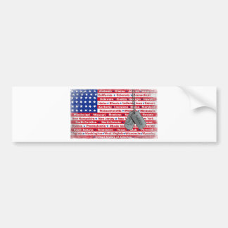 Thank You Soldier Dog Tags Bumper Stickers