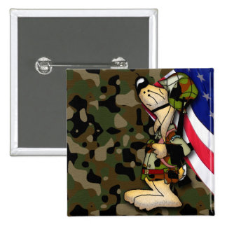 Thank You Soldier medal 15 Cm Square Badge