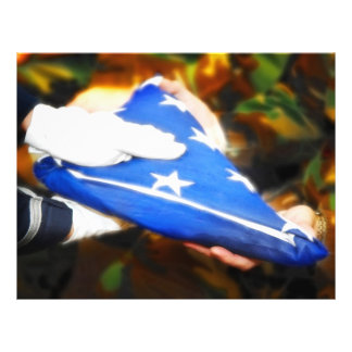 """""""Thank You""""  Soldier Receiving the American Flag 21.5 Cm X 28 Cm Flyer"""