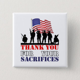Thank You Soldiers Veterans Day Button