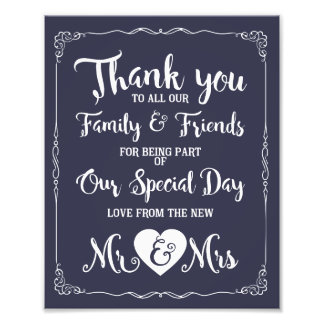 thank you special day wedding sign