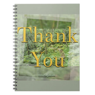 Thank you spiral notebook