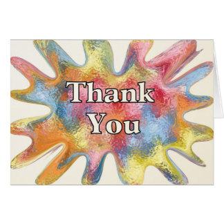 Thank You Splat Greeting Card