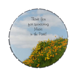 Thank You Sponsoring gifts Music in the Park Jelly Belly Tins