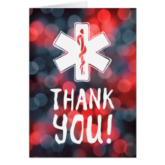 thank you star of life greeting card