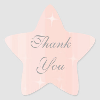 Thank You Star Star Sticker