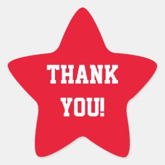 Thank You Star Star Sticker