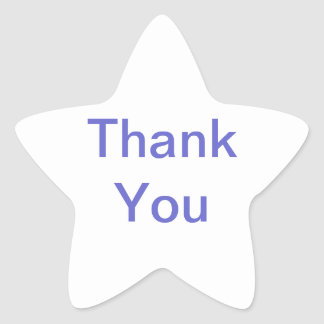 Thank You Star Sticker