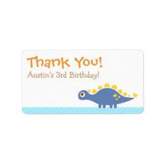 Thank You, Stegosaurus dinosaur theme party Address Label