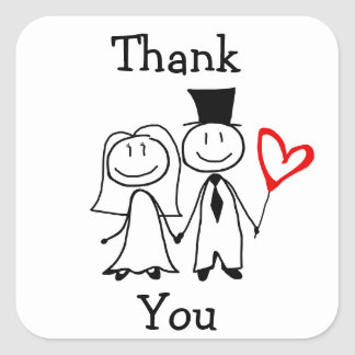 """""""Thank You"""" Sticker for Wedding Thank You Cards"""