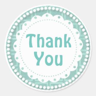 Thank You/Sticker-Lime Round Sticker
