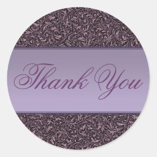Thank You Sticker/Seal Round Sticker
