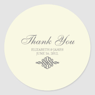 Thank You Sticker The Elegance Collection