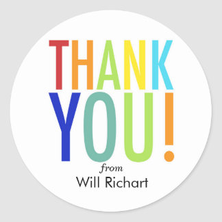 Thank you stickers customizable gift tags