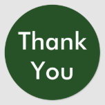 Thank You Stickers on Dark Green Background