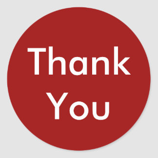 Thank You Stickers on Red Background