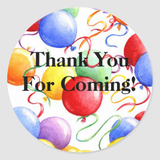 Thank You Stickers Party Balloons Roun