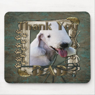 Thank You - Stone Paws - Bedlington Terrier - Dad Mousepad